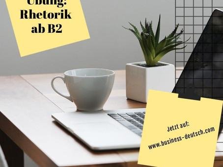 Rhetorik-Übung ab B2