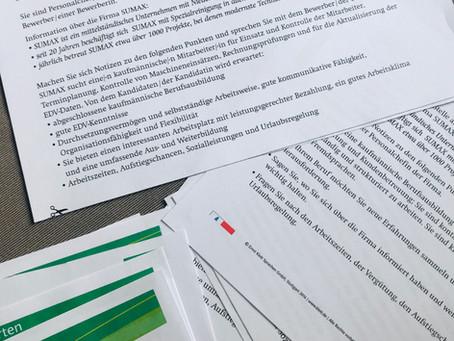 Übungsmaterial für deutsche Bewerbungsgespräche - 3 Tipps