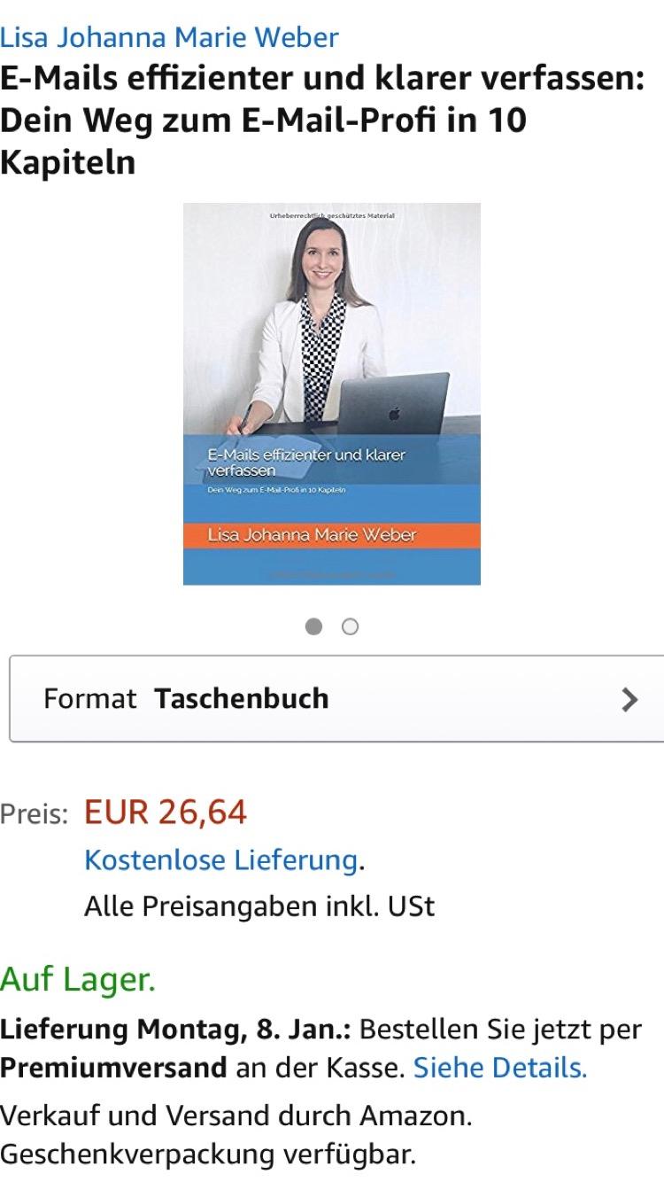 Ab sofort auf Amazon: Deutsche E-Mails - geschäftlich und privat