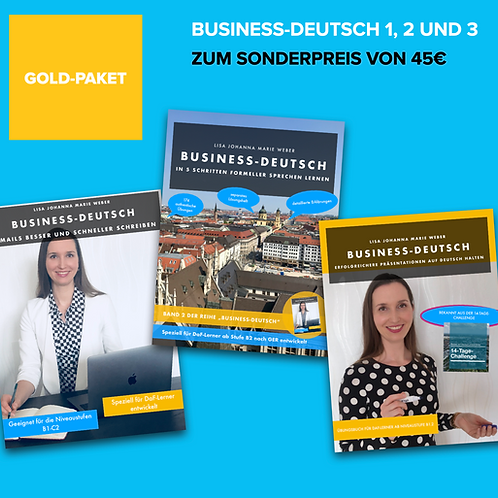 GOLD-PAKET: Business-Deutsch 1,2 und 3