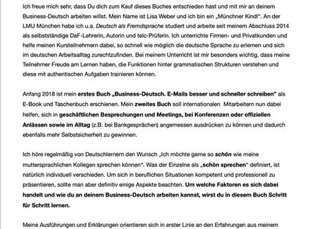 Nur noch wenige Tage: Business-Deutsch Band 2 erscheint in Kürze