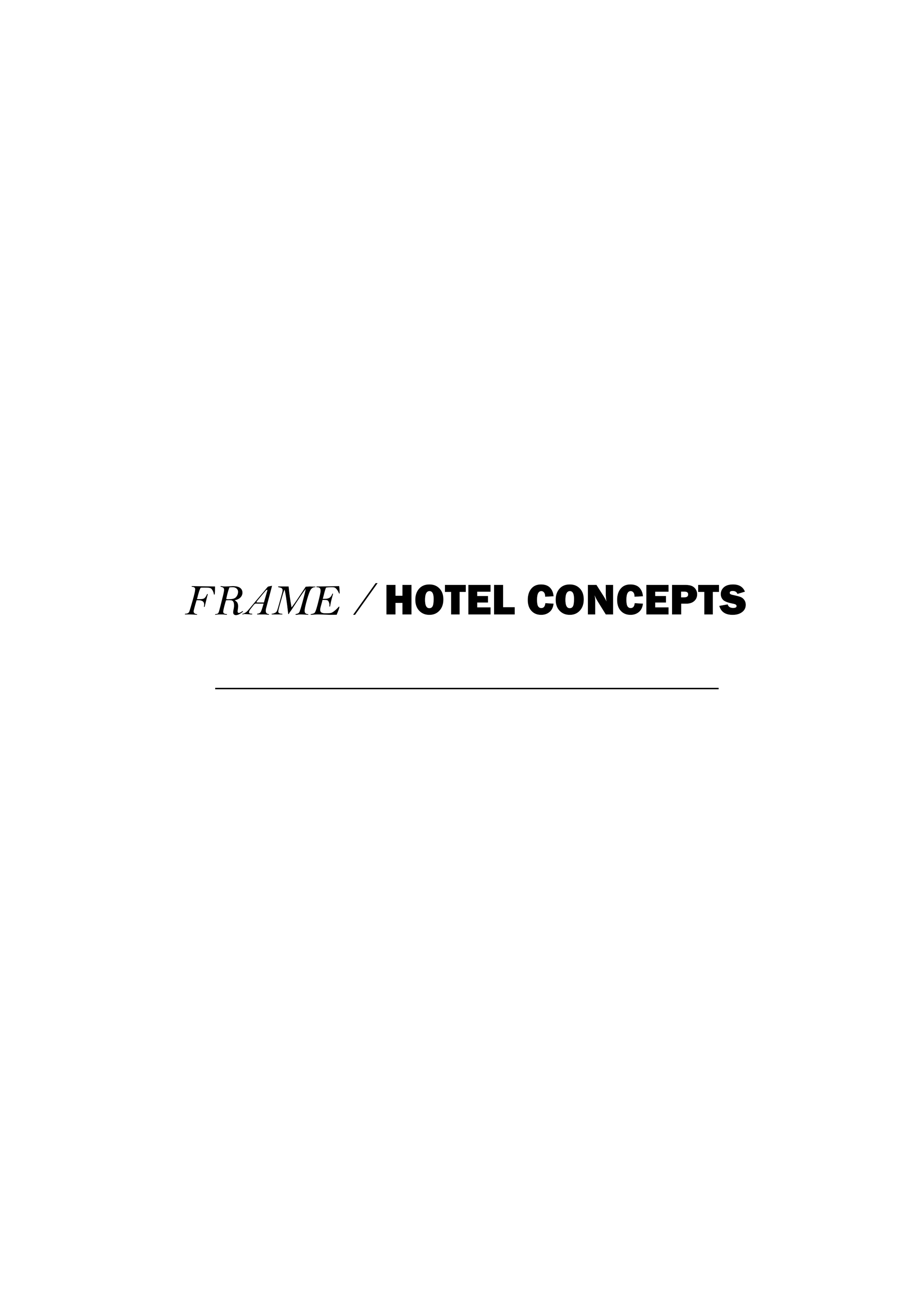 HOTEL CONCEPTS