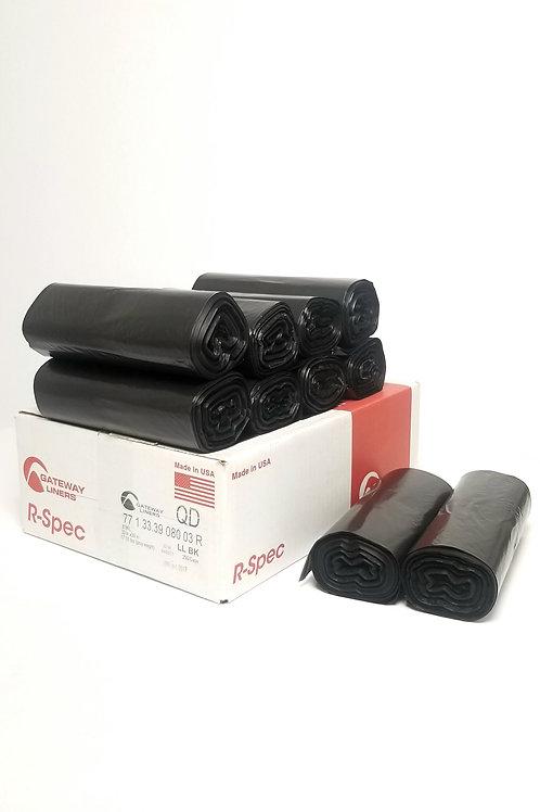 Gateway 33X39, 0.8 MIL, Black Trash Bags, 250/ Case