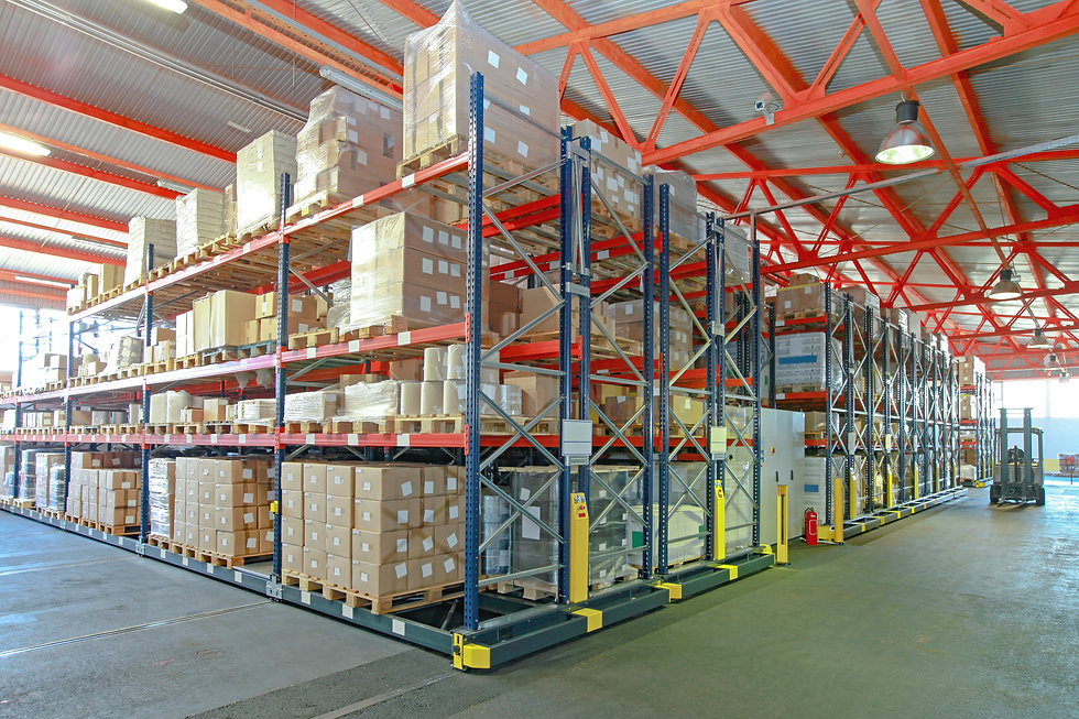 Mobile Aisle Racking System in Distribut