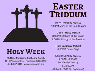 From the Pastor's Pen - Holy Week
