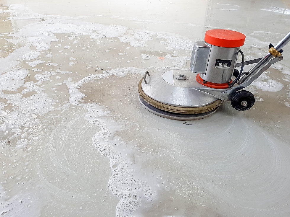 scrubber machine for cleaning and polish