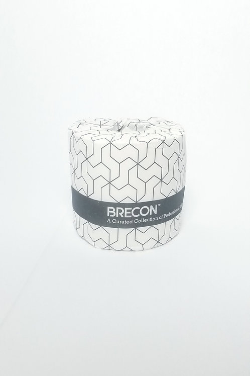 Brecon Toilet Paper, 2-Ply 550 Sheets/ Roll, 80 Rolls/ Case