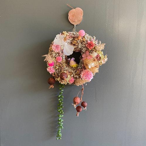 Wreath dessert GLITTER pinkⅱ
