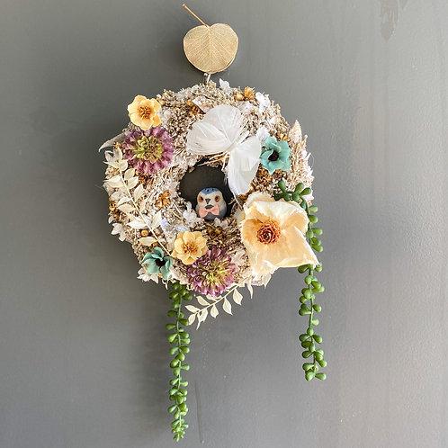 Wreath dessert GLITTER owl