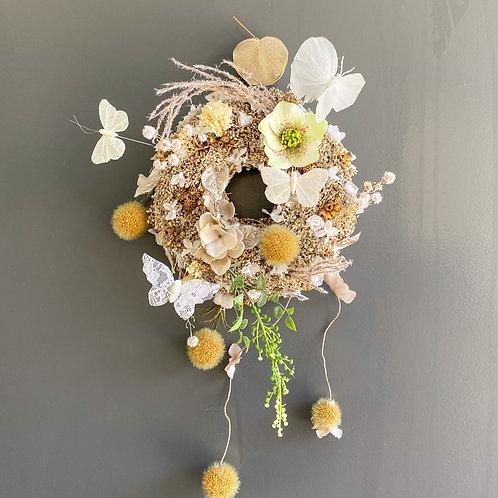 Wreath dessert GLITTER white