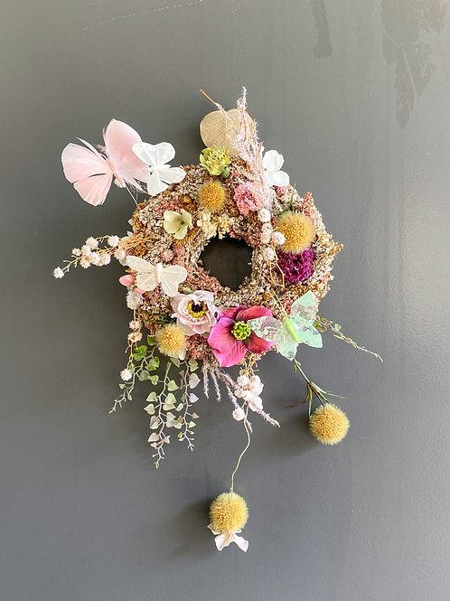 Wreath dessert GLITTER pink