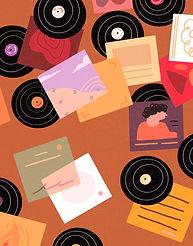 Retro Mid Century Vinyl record art print - Vinyl organization - Vinyl collection - LPs - Albums - Vinyl records - Vinyl jackts