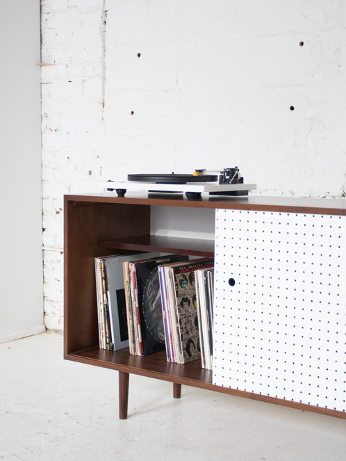 Genial Mid Century Inspired Single Sliding Door Cabinet. Great For Entertainment  Center / Media Cabinet, Record Storage, Record Player Stand.