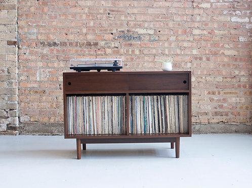 Mid Century record storage cabinet - LP albums - vinyl collection