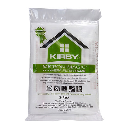 Kirby Micron Magic Plus HEPA Filter Bags 2-Pack
