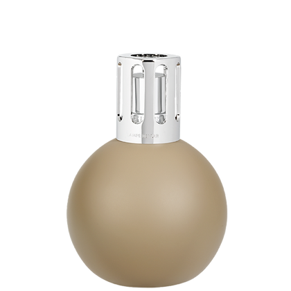 Round Taupe Lampe