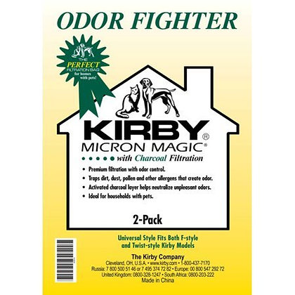 Kirby Pet Micron Magic Filter Charcoal Bags 2-Pack