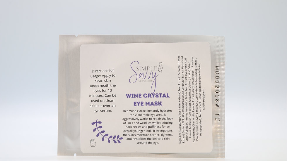Wine Crystal Eye Mask