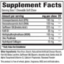 Supplement facts for fish oil supplement for dogs