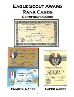 Eagle Scout Rank Card Book (softbound)