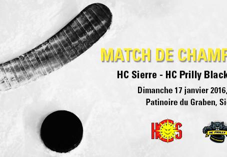 HC Sierre - HC Prilly / dimanche 17 janvier 2016, 20h