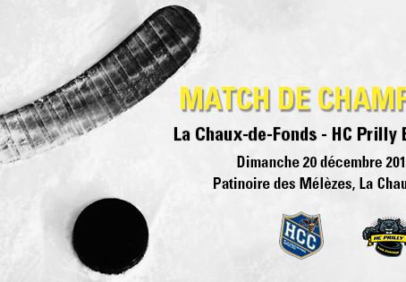 La Chaux-de-Fonds - HC Prilly / dimanche 20 décembre 2015, 18h