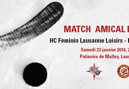 Match amical Loisirs : HCFL Loisirs - HC Genève-Futur