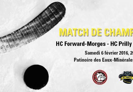 HC Forward-Morges - HC Prilly / samedi 6 février 2016, 20h30