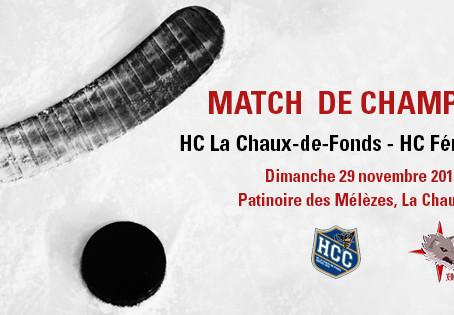 La Chaux-de-Fonds - HCFL / dimanche 29 novembre 2015, 19h