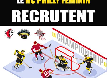 Le Hockey Clubs Féminins Lausannois recherche des joueuses pour ses trois équipes