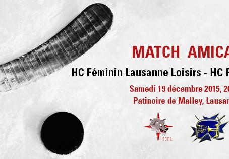 Match amical : HCFL Loisirs - HC Plan-les-Ouates