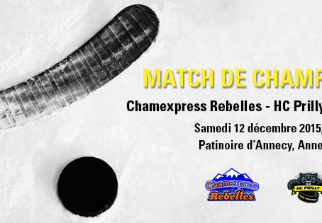 Chamexpress Rebelles - HC Prilly / samedi 12 décembre, 20h15