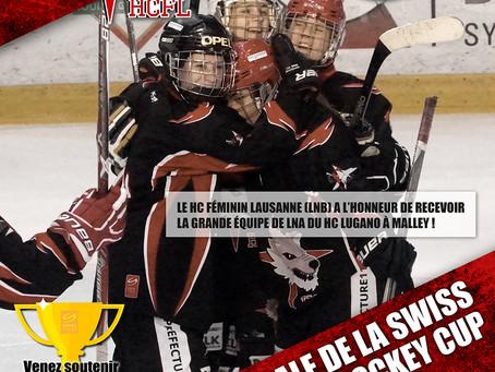 1/4 de finale de la Suisse Women Hockey Cup : Le HCFL recevra la LNA de Lugano le 11.12 à 17h à Mall