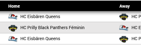 Dates des playouts du HC Prilly
