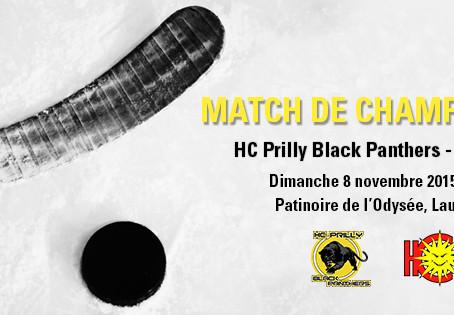 Match de championnat HC Prilly - HC Sierre