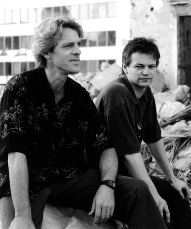 Stewart Copeland and Producer in Beirut.