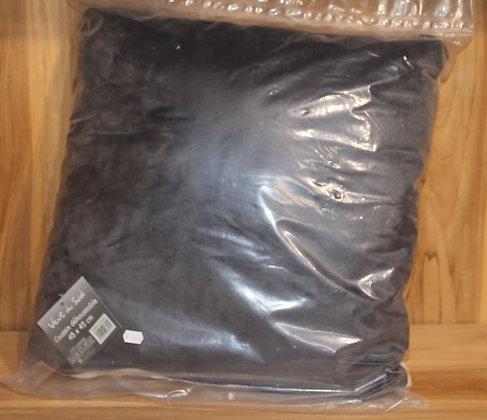Coussin déhoussable Shetland Anthracite 45x45cm