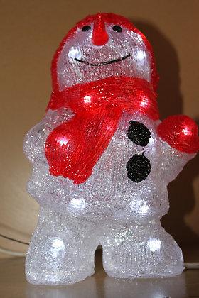 Bonhomme de neige led rouge