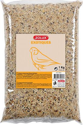 Alimentation oiseaux exotiques coussin 1kg