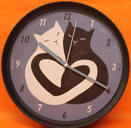 Horloge chronos black & white cat