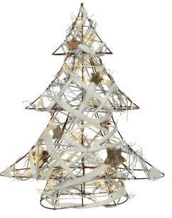 LED arbre laine int/pile blanc chaud