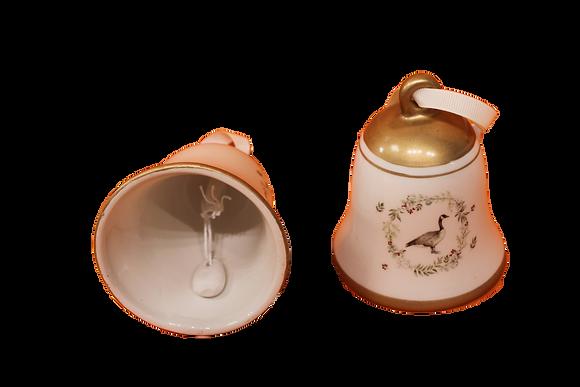 Clochette en porcelaine décorée