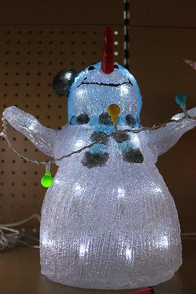Bonhomme de neige led bleu