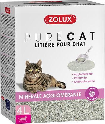 Litière Pure Cat agglomérante parfumée antibactérienne 4L