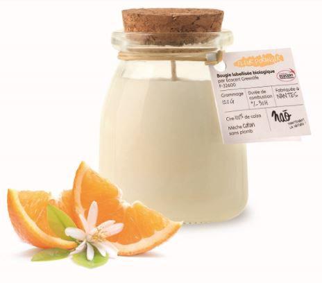Bougie biologique nao Fleur d'Oranger 120g