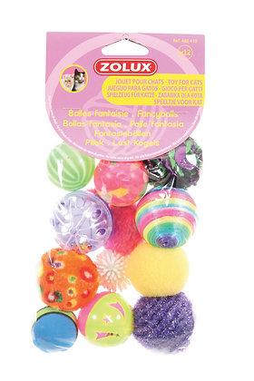 Lot de 12 Balles Fantaisie