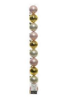 Boules plast uni crys ball assortie x10