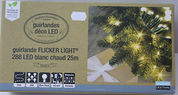Guirlande led blanc chaud 25m