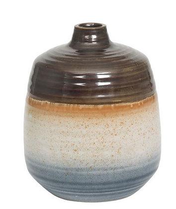 Vase boule petit col h19 bronz