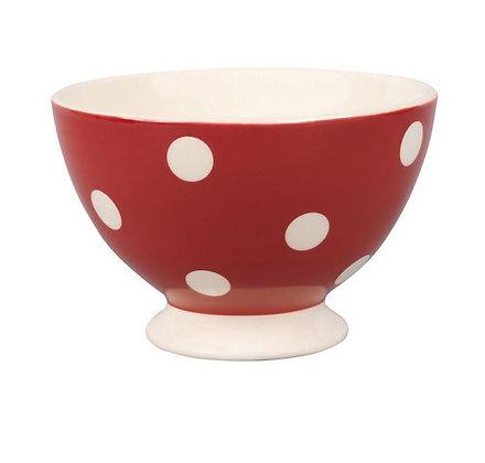 Mini bol pois rouge 10 cm